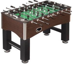 wooden foosball table