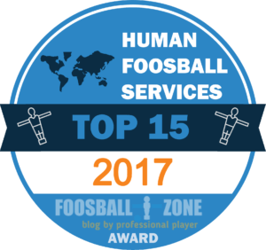 award human foosbal by foosball zone 2017