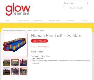 glow human foosball