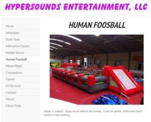 hypersound human foosball