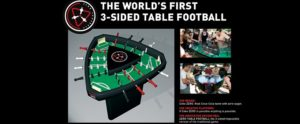Coca-Cola 3-sided foosball table