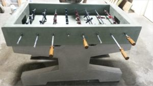 Concrete foosball table