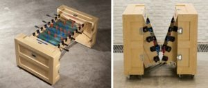 Foldable foosball table – CRATES