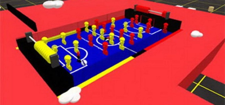 Hybrid Real and Second Life Virtual Foosball Table
