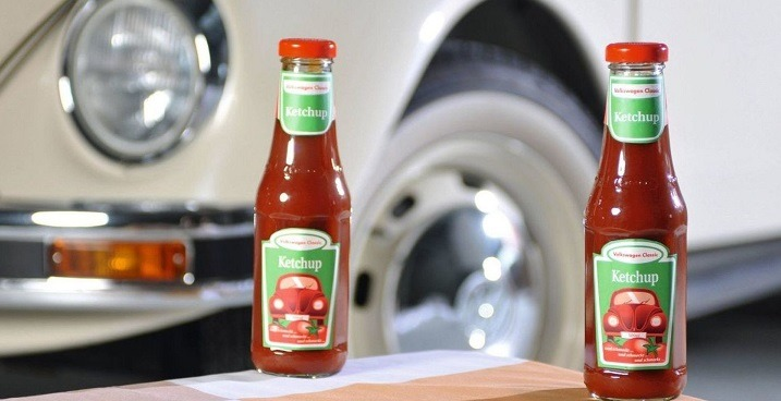 Volkswagen ketchup and sausages