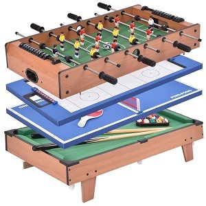 Giantex 4-in- 1 Foosball Multi-Game Table