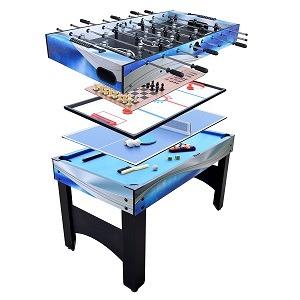 "Hathaway Matrix 54"" 7-in-1 Foosball Multi-Game table"