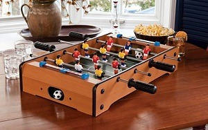 Tabletop Is Actually A Small Foosball Table Without Legs. It Is A Foosball  Table Designed So You Can Put It On The Table, On The Bed Or On The Floor,  ...