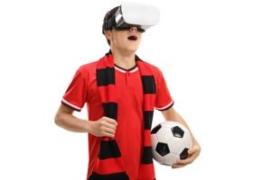 VR foosball table