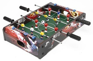 Great This Is A Small Sized Foosball Table, Even For The Tabletop And That Makes  It The Ideal Portable Foosball Table. The Design Is Good Because It Suits  Kids, ...